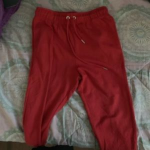 Pants - Basic red joggers